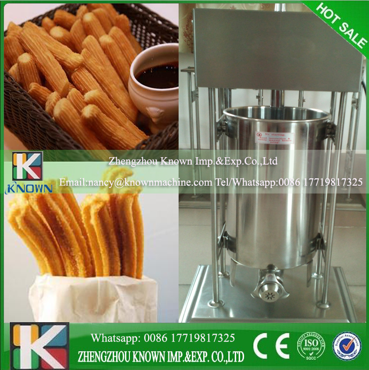 Luxury churro maker/Vertical churros machine with 6L electeic fryer fast food leisure fast food equipment stainless steel gas fryer 3l spanish churro maker machine