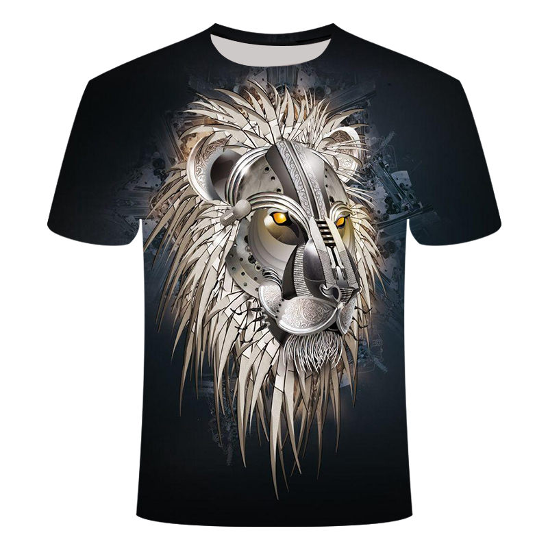 Lion T <font><b>Shirt</b></font> Men Animal Tshirt <font><b>Sex</b></font> <font><b>Funny</b></font> T <font><b>Shirts</b></font> Slim 3d Print T-<font><b>shirt</b></font> Hip Hop Tee Cool Mens Clothing 2019 New Summer Top image
