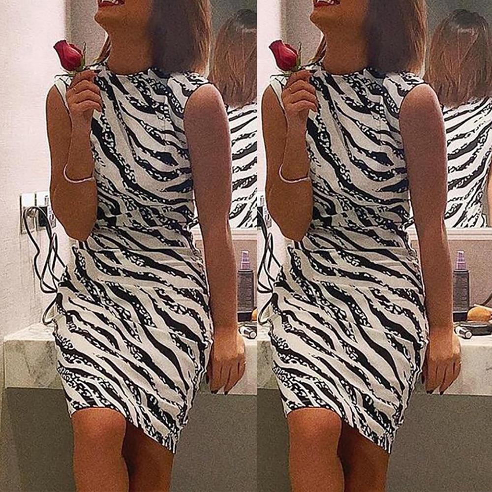 HTB151KpbELrK1Rjy0Fjq6zYXFXa1 Women's Summer Dress Ladies Sexy Stripe Print Sleeveless Mini Dress Fashion  Bodycon Dresses Elegant Women sexy dresses 2019 NEW