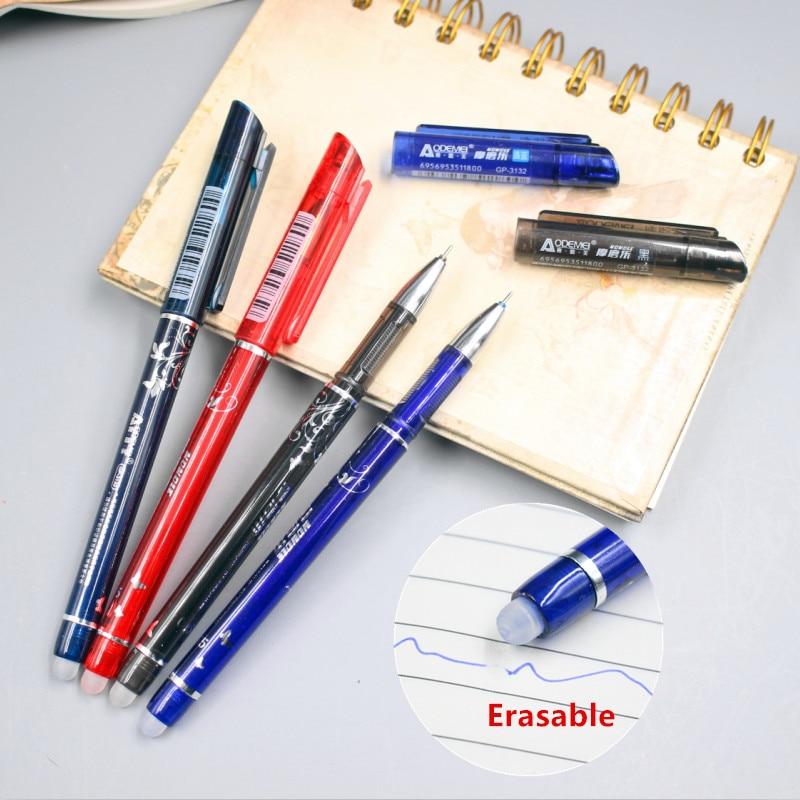 1 Pcs 0.5mm Erasable Gel Pen Refills Is Red Blue Ink Blue And Black A Magical Writing Neutral Pen neutral pen blue fruit faint small floral creative chopsticks thin rod diamond signing pen writing word black 0 38mm 10 pcs set