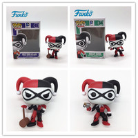 FUNKO POP 1pcs First Edition Official DC Heroes: Harley Quinn Action Figures Model Gift For Friend Child Birthday Original Box