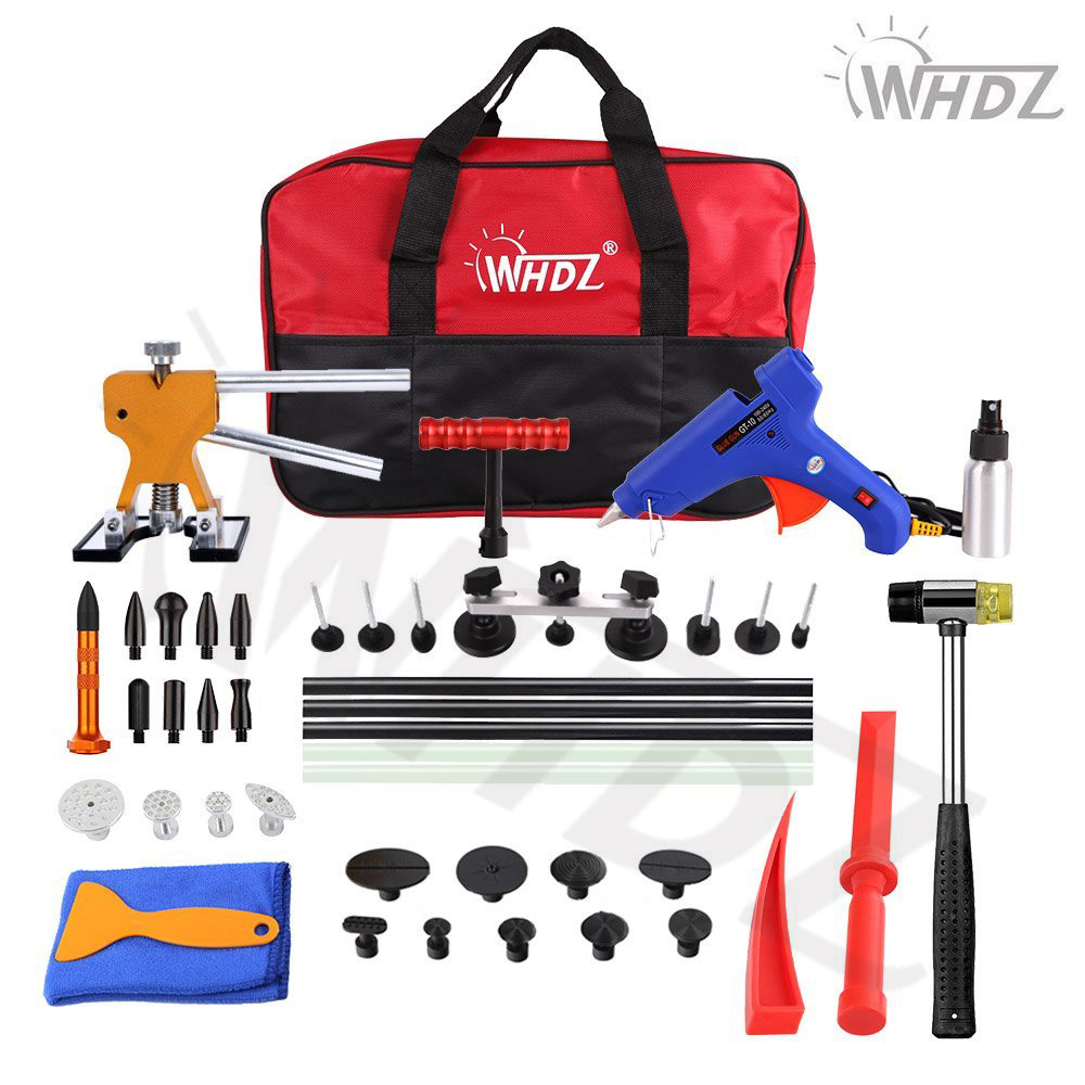 29pcs PDR Tool Hail Damage Repair Kit Auto Car Dent Removal Dent Puller Kit Fix Ding PDR Dent Lifter Paintless Hail Repair Tool pdr rod tool kit set door ding repair hail damage repair with with 9 heads aluminum tap down dent hammer paintless dent removal