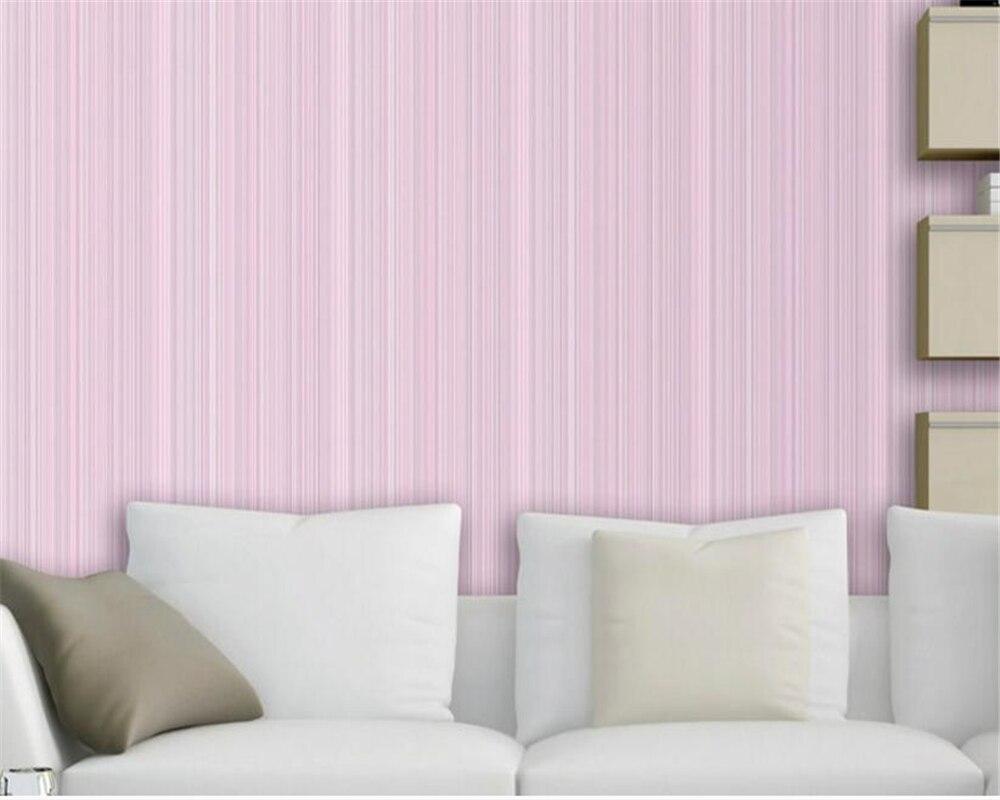 Beibehang Cor Moderna Listrada Vertical Fio Tecido N O Tecido  ~ Tecido Para Parede De Quarto E Quarto Com Listras Rosa