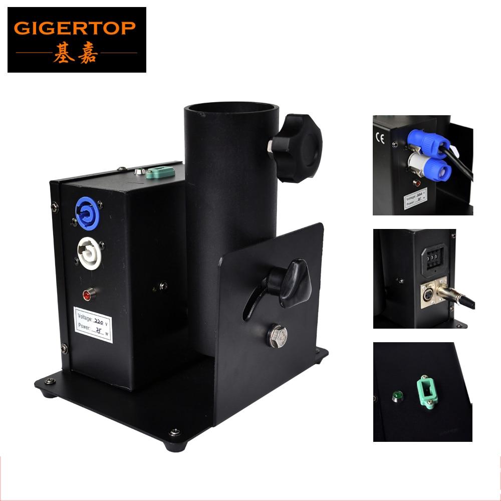 цена на 25W Single Tube Mini Confetti Machine One Shot One Head One nuzzle Confetti Streamer Launcher DMX Control Power Con Output Input