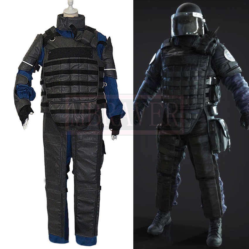Tom Clancy's Rainbow Six Siege Montagne Gilles Toure Cosplay Costume Halloween Uniform Outfit Cosplay Costume Customize Any Size