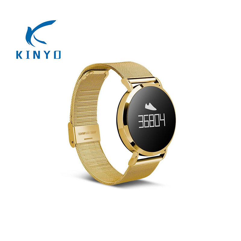 KINYO assez bon de remise en forme intelligente bracelet surveillance de la pression artérielle Smartband IP67 étanche à distance caméra smart watch pk xiomi