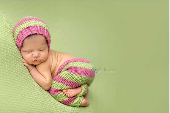 Newborn pixie bonnet Baby photo prop hat