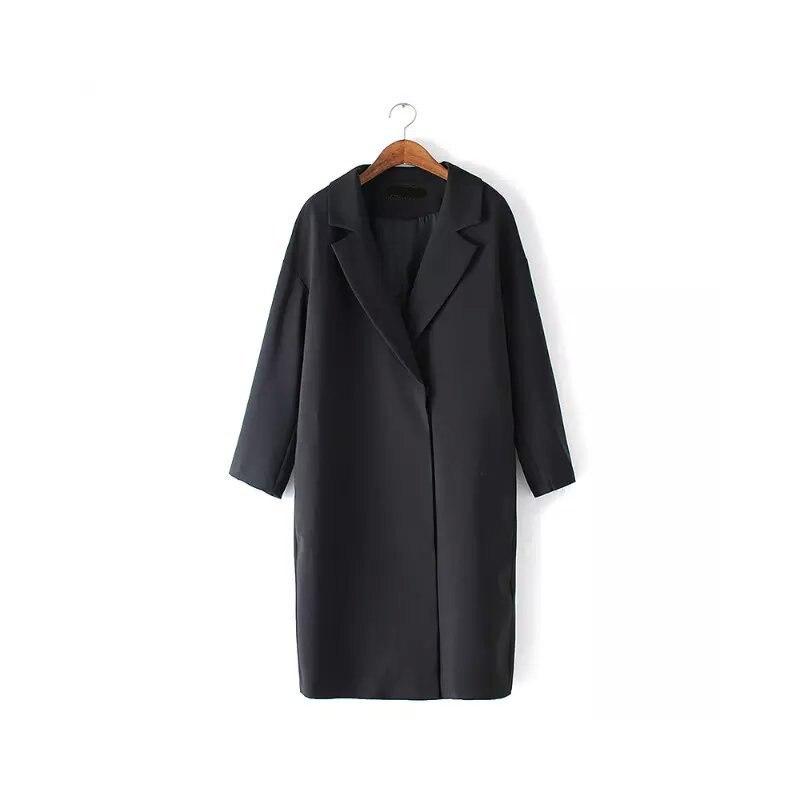 a19019bb95c3 Women Winter Wool Blends Coat Womens Long Sleeve Slim Thicken Warm ...
