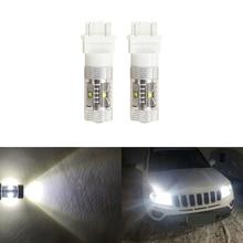 6000 К ксеноновые Белый 30 Вт LED 3157 3357 3457 светодиодные лампы для Jeep Компасы 2011-для Габаритные огни автомобиль-Стайлинг plug-n-play