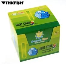 1Box(50Bags=250Pcs) Dia:4.5X37mm Night Fishing Luminous Float Fluorescent Light stick Rod Green LightsDark Glow Stick fish
