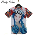 3D T Shirt Boys Chinese Style Kids Clothes Big Boy T-shirts Teanage Peking Opera Artistes Personalized Facebook Tops tyh-20484