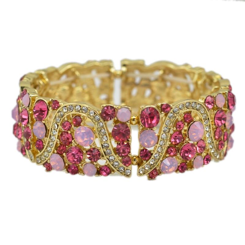 3 Warna Opsional Kristal Berlian Imitasi Gadis Peregangan Elastis - Perhiasan fashion - Foto 2