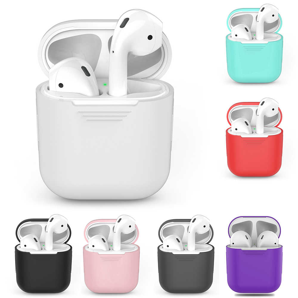 Silicone Wireless Bluetooth Earphone Case For AirPods TPU Headphones Cases Protective Cover For Apple For AirPods Charging Box