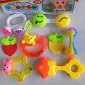 Brinquedos do bebê Fun Pouco Alto Desenvolver A Inteligência Do Bebê brinquedo Do Bebê Agarrar Bola Sino chocalhos Do Bebê Sino de Mão de Plástico Chocalho