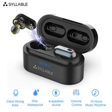 Original SYLLABLE S101 QCC3020 chip bluetooth V5.0 bass earphones wireless Volume control h