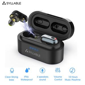 Original SYLLABLE S101 QCC3020 chip bluetooth V5.0 bass earphones wireless Volume control headset noise reduction SYLLABLE S101(China)