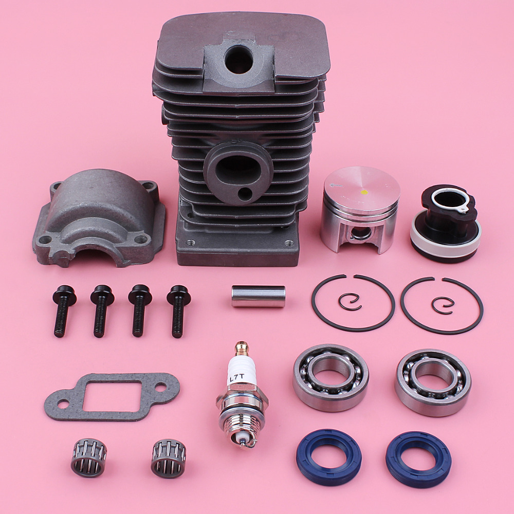 38mm Cylinder Piston Engine Pan Base Crank Bearing Oil Seal Kit For Stihl MS180 018 MS 180 Chainsaw Spare Part
