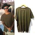 Moda mens plus size oversized top tees camisa solta t fora do ombro t-shirt dos ganhos do hip hop roupas de marca Justin bieber roupas