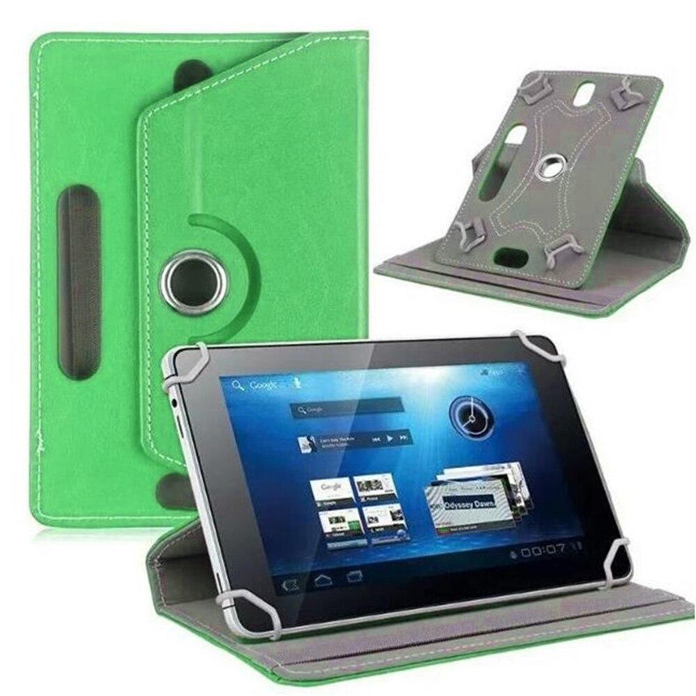 10 дюймов, 360 градусов, вращающийся чехол, чехол для универсального планшета, планшета, ПК, чехол, кожаный протектор, Универсальный Прочный рукав - Цвет: green