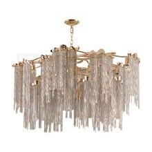 Creative post-modern home decoration chain living room chandelier bedroom lamp restaurant tassel lighting fixture