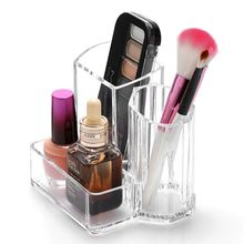 Eyebrow Pencil Eyeshadow Makeup Brush Storage Box Acrylic Transparent Cosmetics Organizer Makeup Tool Kit XZ78(China)