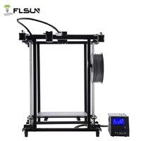 Германия склад Flsun 3D принтеры широкоформатной печати Размеры 320*320*460 мм с подогревом Предварительная сборка Corexy Структура v Slovt колеса