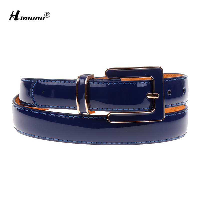 Himunu New Pin Buckle Painting Genuine Leather Womes