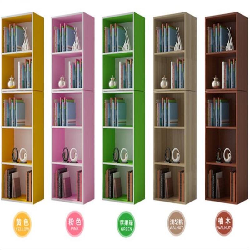 Modern Bookshelf Free Combination Bookcase Living Room Storage Cabinet
