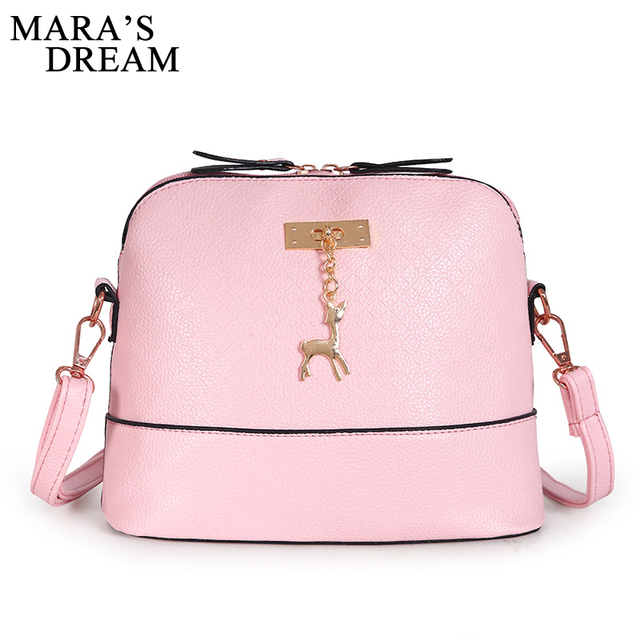 23263adb11a2 Mara s Dream Party handbag Women Messenger Bags Fashion Mini Bag With Deer  Toy Shell Shape Bag PU Leather Women Shoulder Bags