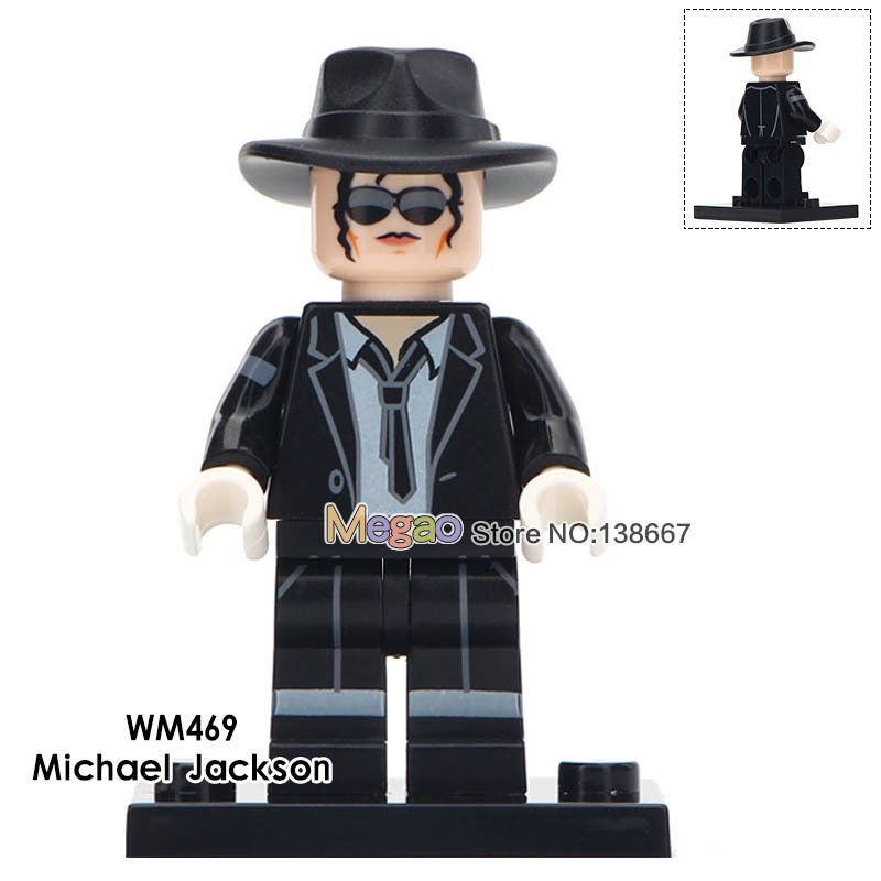 50 Pcs/lot Michael Jackson Famous Singer Stars Elvis Presley Kiss Band Western Cowboy Educational Building Blocks Children Toys Toys & Hobbies