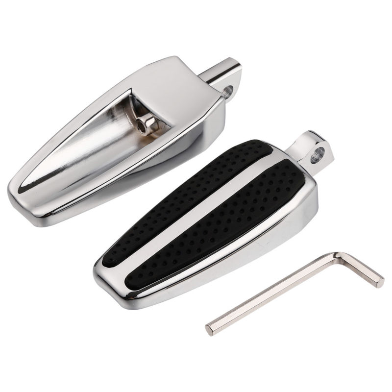 Black/Chrome Male Mount-Style 10mm Footpeg For Harley Electra Road Glide Sportster 883 1200 Softail Dyna Street Fat Bob
