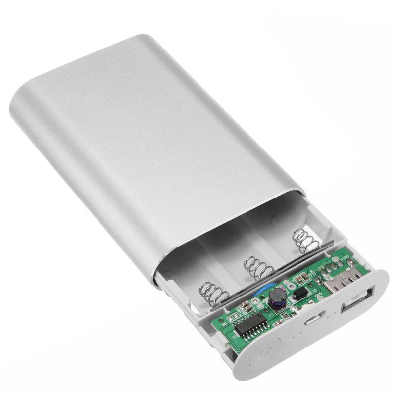 Power Bank Case Kit Aluminum 5V 2A 3X 18650 Battery Charger Box