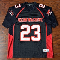 MM MASMIG Earl Megget #23 Mean Maschine Fußball Jersey Genäht Schwarz S M L XL XXL XXXL 4XL