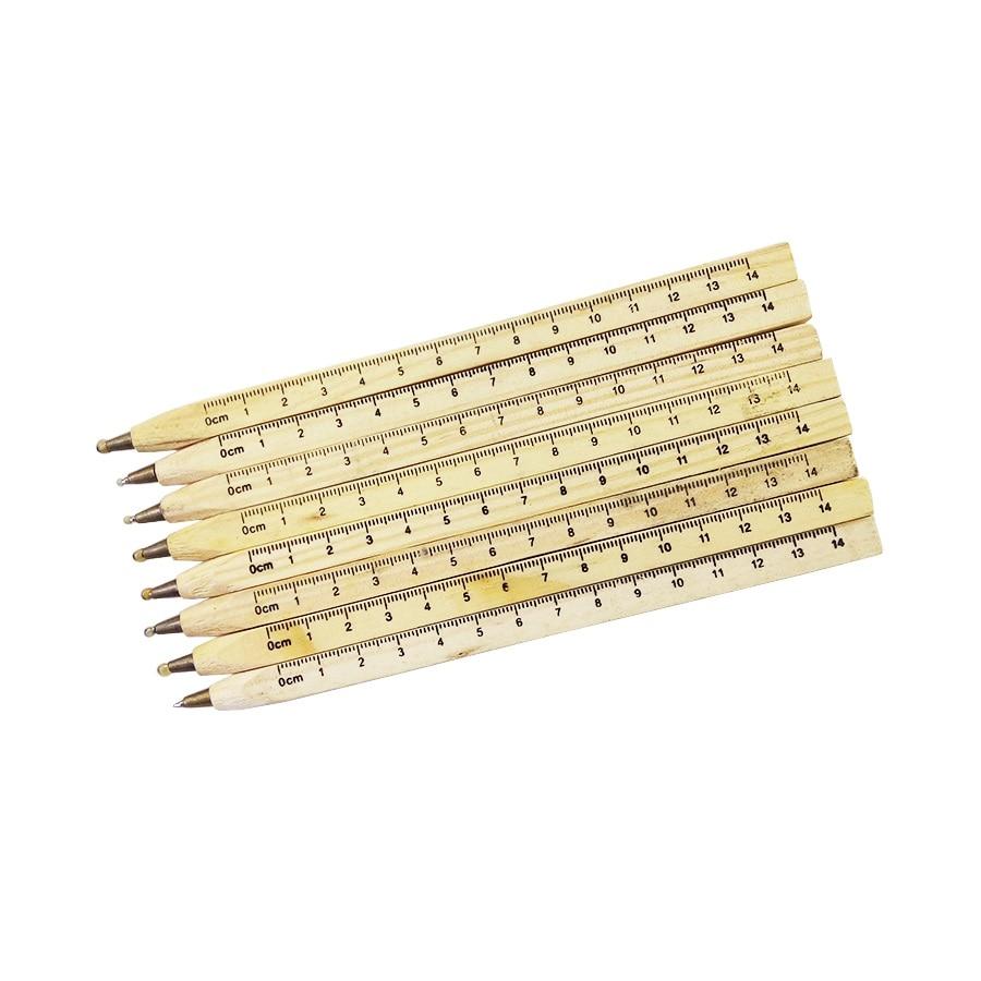 3 stk / nyt Nyt håndlavet træ miljømæssigt lineal design Manual - Kuglepenne, blyanter og skrive forsyninger