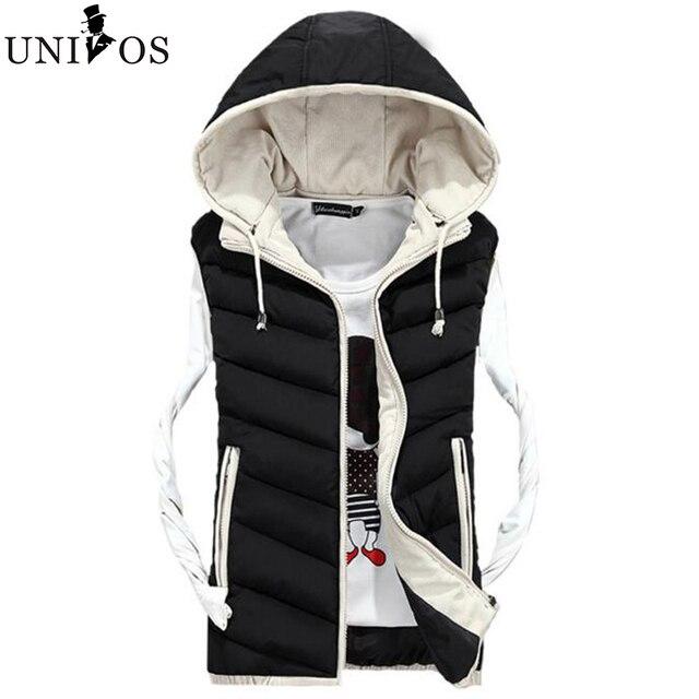 2016 New Casual Men Vest Men Cotton-padded Waistcoat Fashion Sportswear Winter Warm Outwear Vest 4 Colors Asian Size Z2510