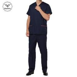 Мужская Хирургическая Одежда с v-образным вырезом и коротким рукавом, салонная одежда для больниц, летние медицинские скрабы для мужчин