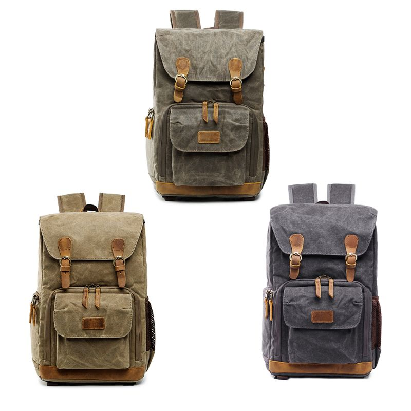 1Pc Vintage Backpack Photography Bag Casual Daypack for Camera Lens Laptop and Accessories Travel Use For Men 20191Pc Vintage Backpack Photography Bag Casual Daypack for Camera Lens Laptop and Accessories Travel Use For Men 2019