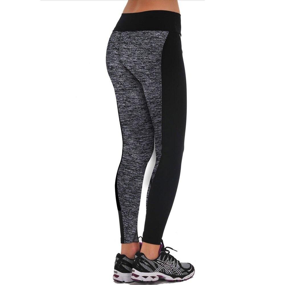 eaa1ac8146d6a 2017 Plus Size Women Autumn Winter Stretchy Sexy Pencil Pants High Waist Color  Block Slim Lounge Legging Activewear Black Gray