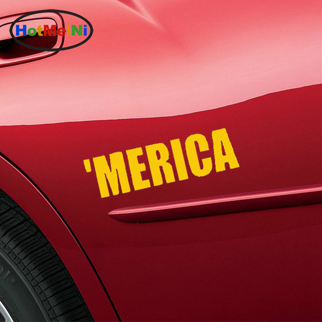 Hotmeini wholesale 50pcs lot art words merica funny pride redneck car sticker for rv motorcycles