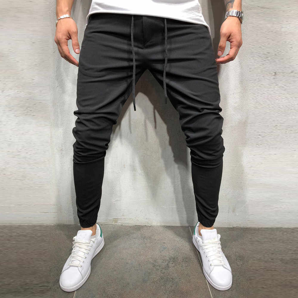 FeiTong Sweatpants for Men Casual Sportwear Baggy Jogger Pants Slacks Ankle-Length Pants Sweatpants Military Pants