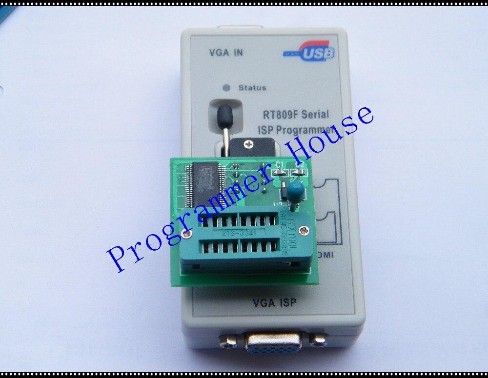 Бесплатная доставка RT809F USB SPI программист + v1.8 адаптер SPI Flash SOP8 DIP8 W25 MX25