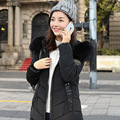 2016 Winter New Fashion Causal Medium Long Size Solid Color Hooded Slim Women Down Coat