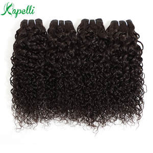 Mongolian Jerry Curly 3/4 Bundles 8-30 Inch 100% Human Hair Extension Natural Color Non Remy Hair Weave Bundles Free Shipping