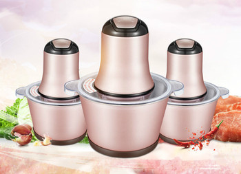 Meat Grinders 2.2l color steel grinder USES electric shredded stainless small minced garlic paste for commercial NEW