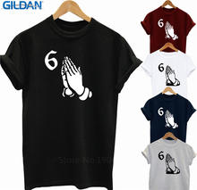 лучшая цена Design Style New Fashion Sleeve  Men'S O-Neck Create Your Own Drake 6 God Hands  Short Sleeve Office Tee