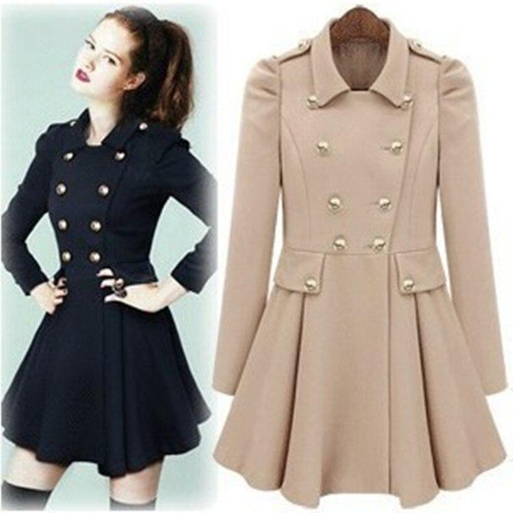 Popular Navy Womens Coats-Buy Cheap Navy Womens Coats lots from ...