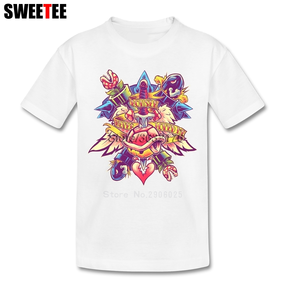 BOWSER NEVER LOVED ME childrens T Shirt Cotton Short Sleeve Round Neck Tshirt Costume Boys Girls 2018 Fashion T-shirt For Baby