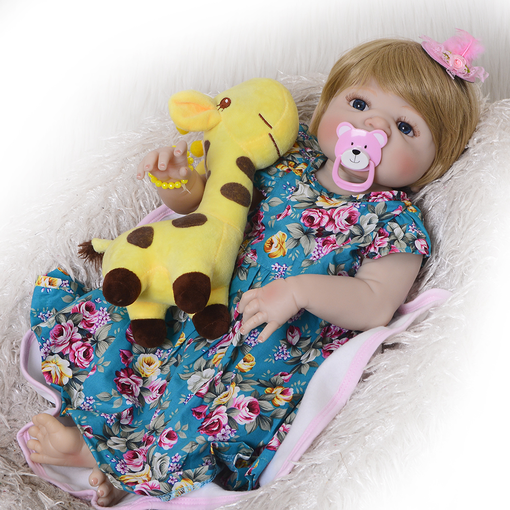 23 Inch Lifelike Reborn Bonecas 55 cm Full Silicone Vinyl Reborn Baby Girl Doll Realistic Baby Toy For Kids Gift Early Education reborn early diaries 1947 1963