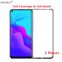 2Pcs Huawei Nova 5i Glass Tempered for Film HD Full Glue Cover Phone Screen Protector