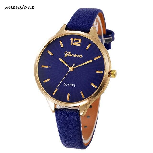 Susenstone bayan kol saati Women Watch 2018 Fashion Luxury Women Ladies Watches Simple Casual Quartz Watch Relogio Feminino/60